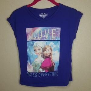 L Disney Frozen Elsa Tee Tops Shirt Love Rules N